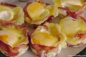 Bacon and Egg Muffins (With Whole Eggs)