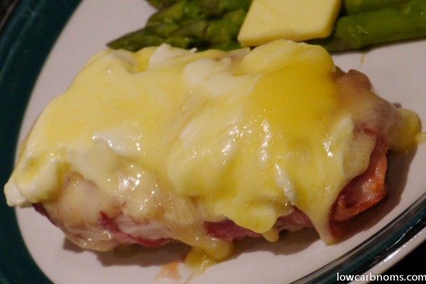 low carb bacon wrapped cheesy chicken - suitable for keto, paleo, atkins diet