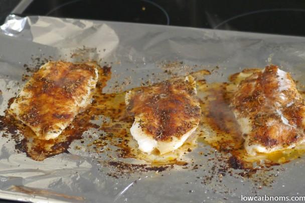 low carb cajun fish - suitable for keto, paleo, atkins diet
