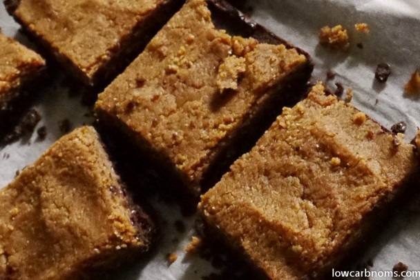 low carb caramel brownie - suitable for keto, paleo, atkins diet