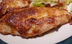 chicken with parmesan and mayo crust (7)