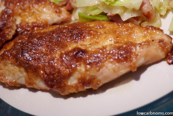 low carb chicken with parmesan and mayo crust - suitable for keto, paleo, atkins diet