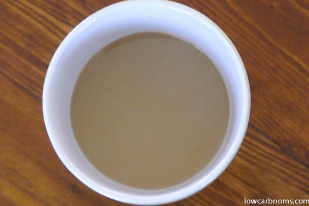 low carb creamy coffee - suitable for keto, paleo, atkins diet