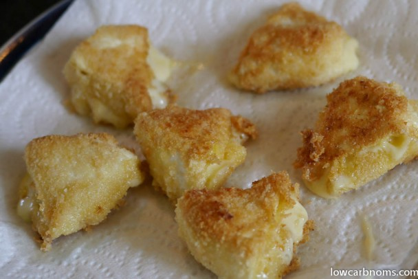 low carb shallow-fried camembert - suitable for keto, paleo, atkins diet