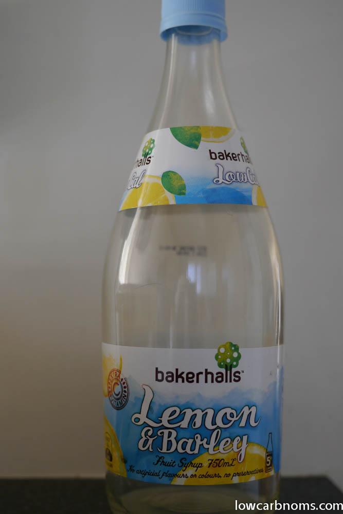 low carb sparkling lemon - suitable for keto, paleo, atkins diet