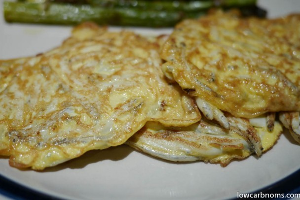low carb whitebait fritters - suitable for keto, paleo, atkins diet
